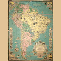 Mexico, Central & South America Maps & Views
