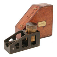 Military Clinometer and Mahogany Box