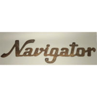 Cast iron Navigator sign