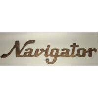 Cast iron Navigator sign