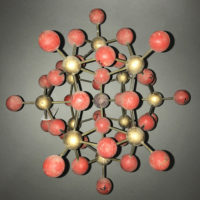 Molecule Model, red and gold