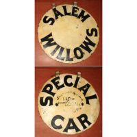 Salem Willows Amusement Park Special Car Ride Sign