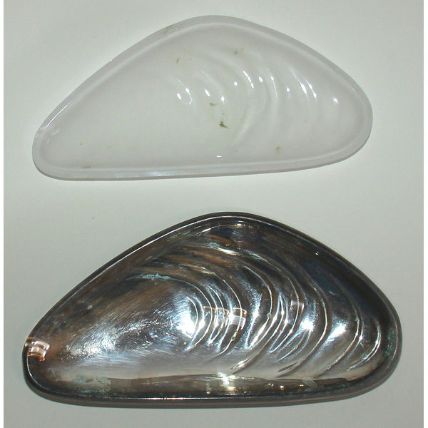 Shell Form Dishes Silver Plate Set 4