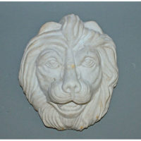 White Marble Carved Lion Head Mask