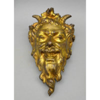 Gilt Bronze Satyr Mask