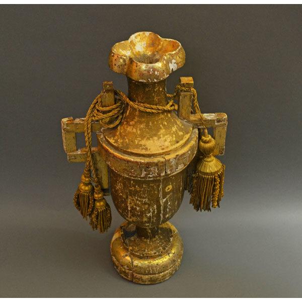 Gilt Wood Urn Antique