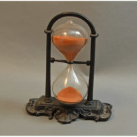 Hour Glass Vintage Iron Swiveling