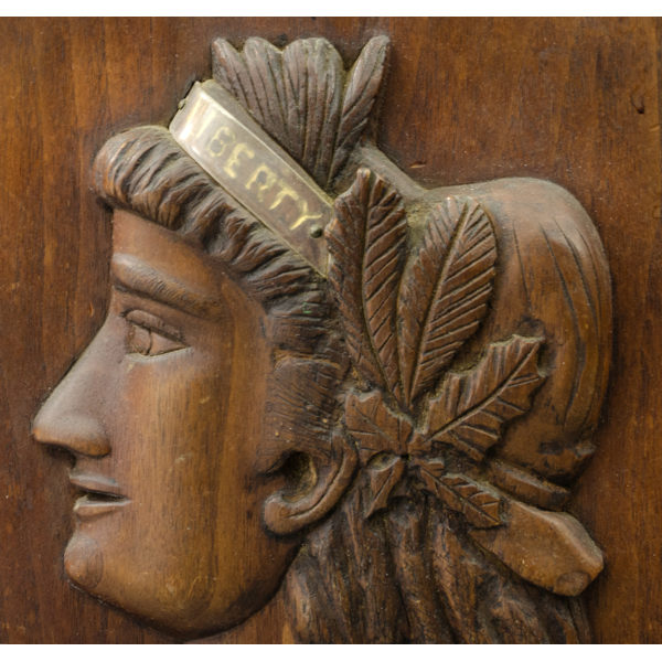 Lady Liberty wood plaque detail
