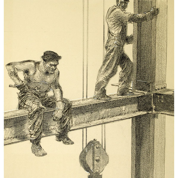 [Workers on the Empire State Building], detail