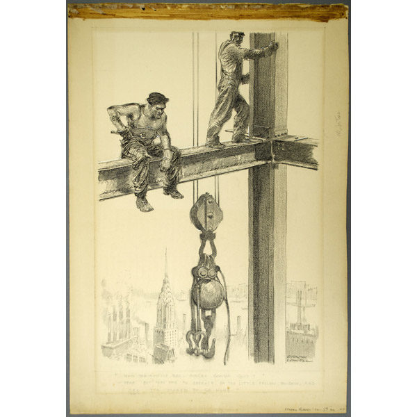 [Workers on the Empire State Building], full sheet