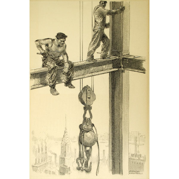 [Workers on the Empire State Building]