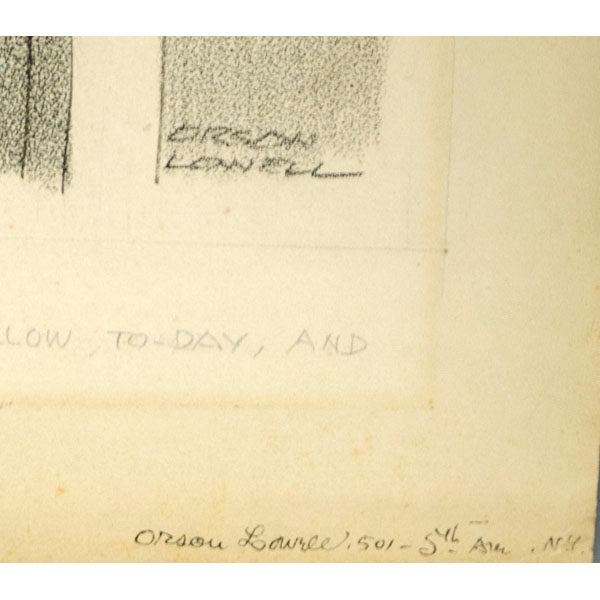 Detail of Orson Lowell signatures
