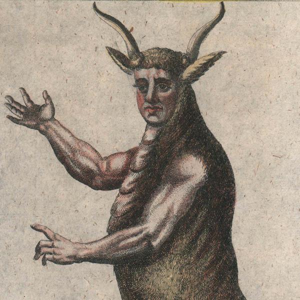 Minotaurus, detail
