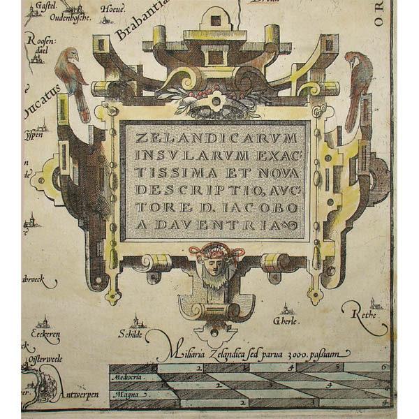 Zelandicarum Insularum Exactissima et Nova Descriptio, cartouche