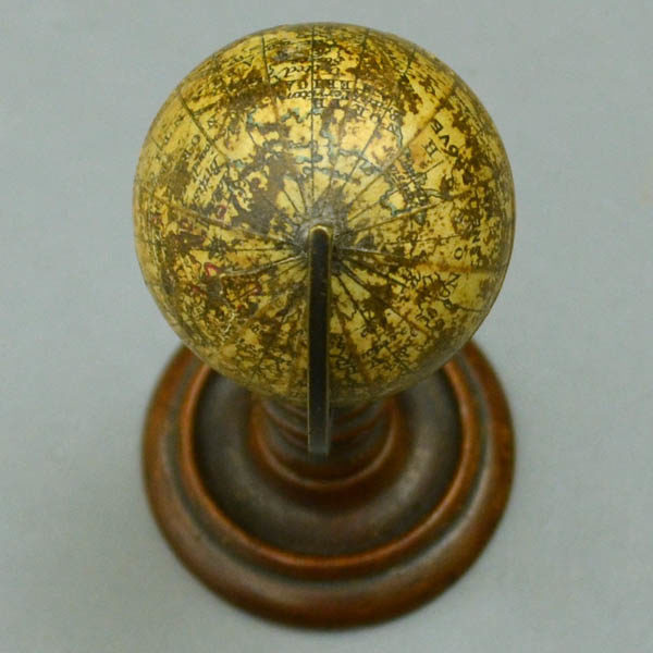C. Snellgrove 1.75 inch Terrestrial Table Miniature Globe, North Pole
