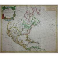 Vaugondy North America map, Amerique Septentrionale