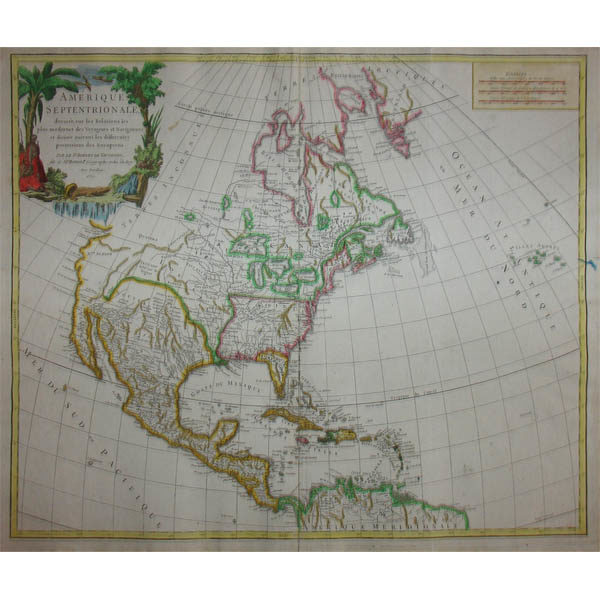 Vaugondy North America map, Amerique Septentrionale