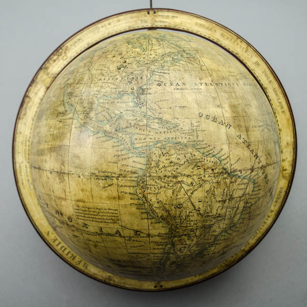 Dien 10-Inch Terrestrial Globe, detail of North and South America
