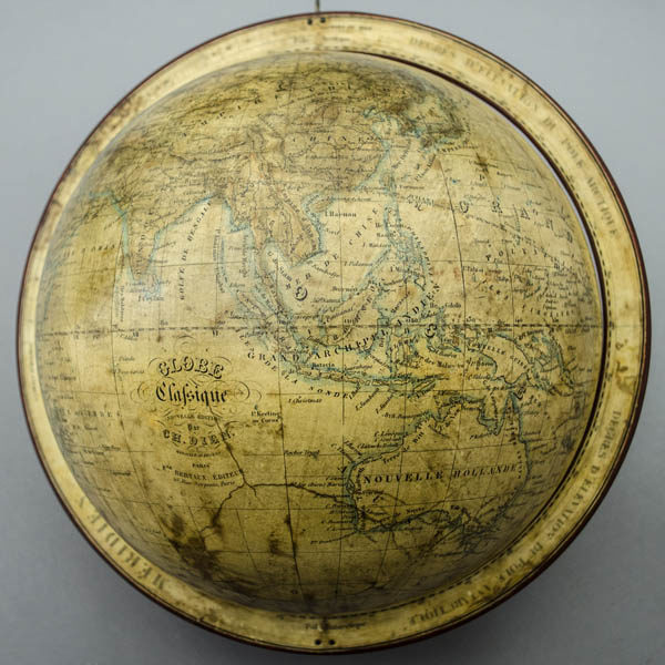 Dien 10-Inch Terrestrial Globe, detail of Asia and Australia