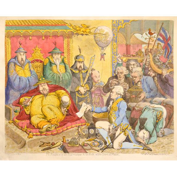 Caricature Satire Gillray British Diplomats In Peking China