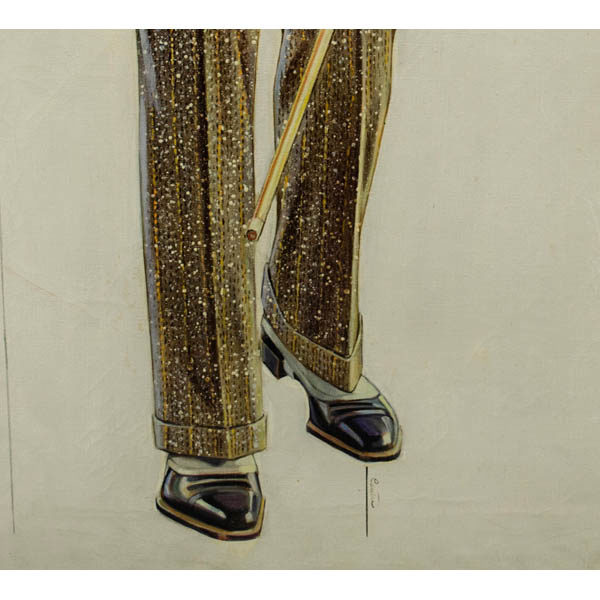 Sporting Wear detail, shoes with spats