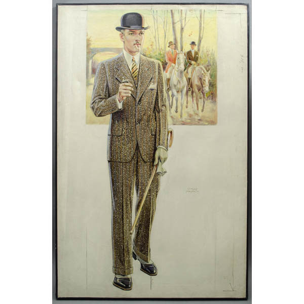 Men's Sporting Wear Fashion Illustration by Edmund Magrath