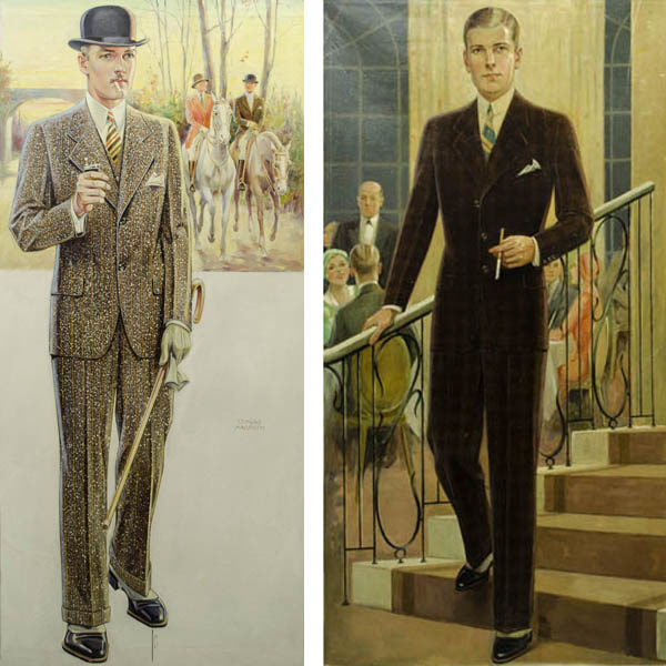 Men's Fashions, Illustrations by Edmund Magrath