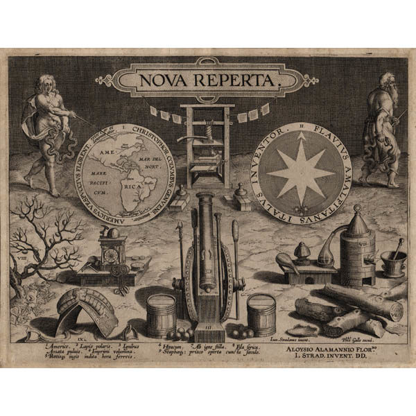 Title Page, Nova Reperta [New Inventions of Modern Times]