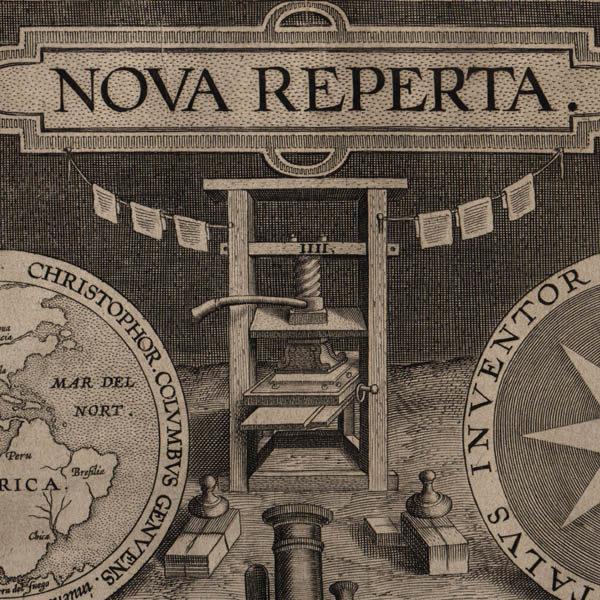Detail of printing press.