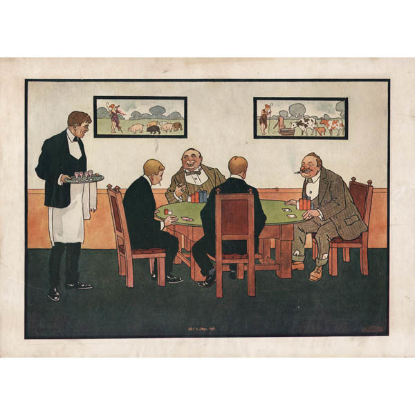 Only a Small Pair, Bernhardt Wall Poker Print