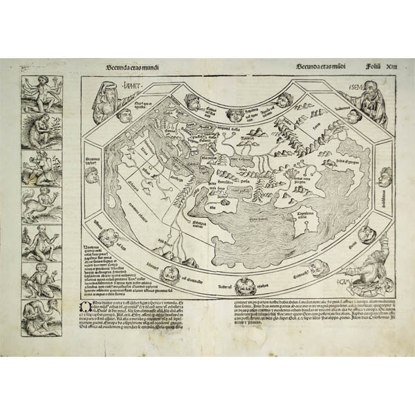Hartmann Schedel, Secunda etas mundi [World Map], Nuremberg: 1493