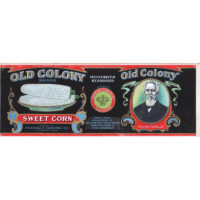 Label design for Old Colony Brand Sweet Corn, Faribault Canning Co., Faribault, Minn.