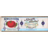 Original illustration art for Newell's Extra Tomatoes, Geo. R. Newell & Co. Distributors, Minneapolis, Minn.