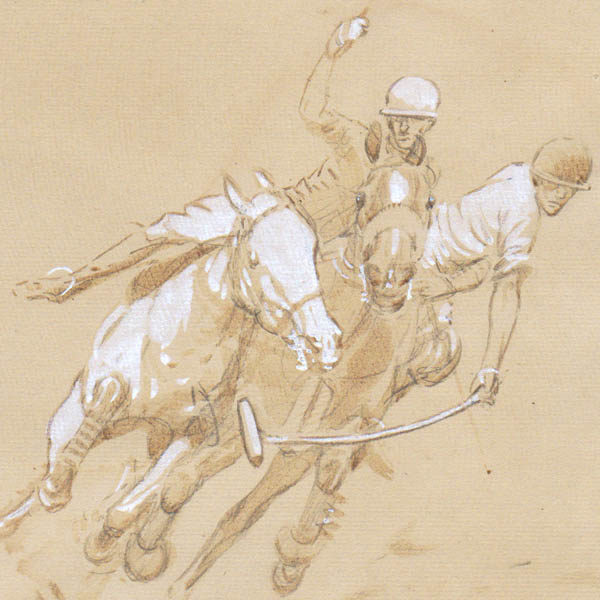 Polo Players, detail