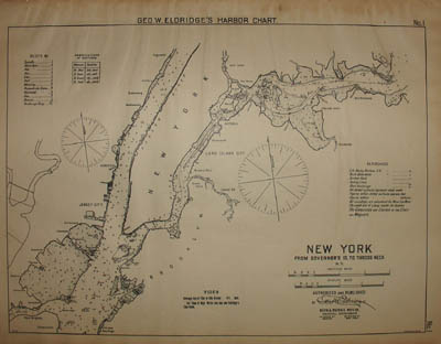 Chart 1, New York, from Governor's Id. [Island] to Throg's Neck