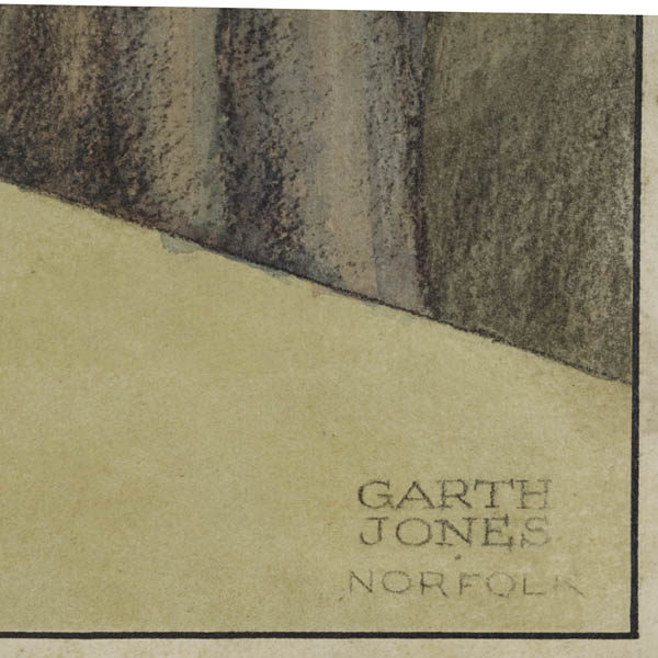Detail of Garth Jones signature