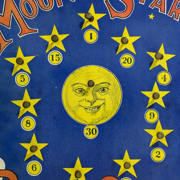 Detail of moon and stars