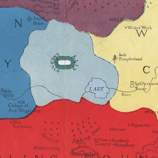 Detail of Map of the Marvelous Land of Oz, Emerald City
