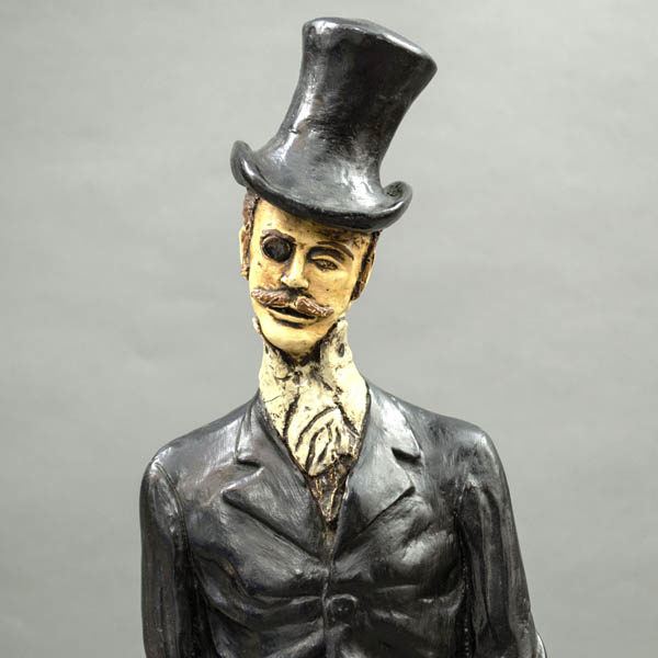 Gentleman Figurine, head