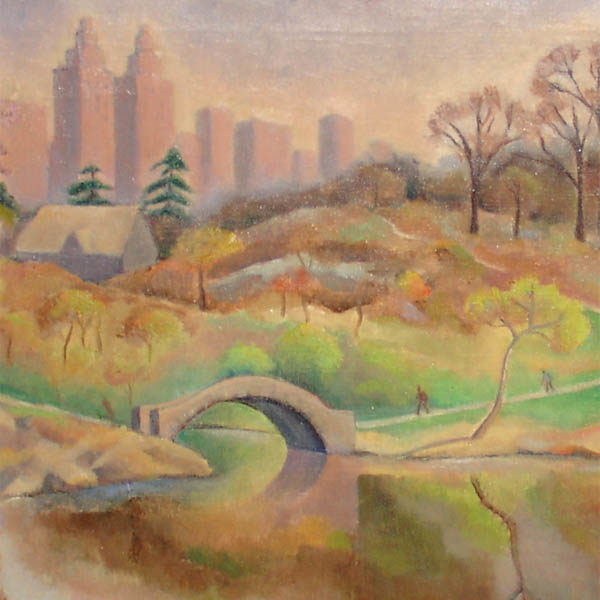 Detail of Central Park painting