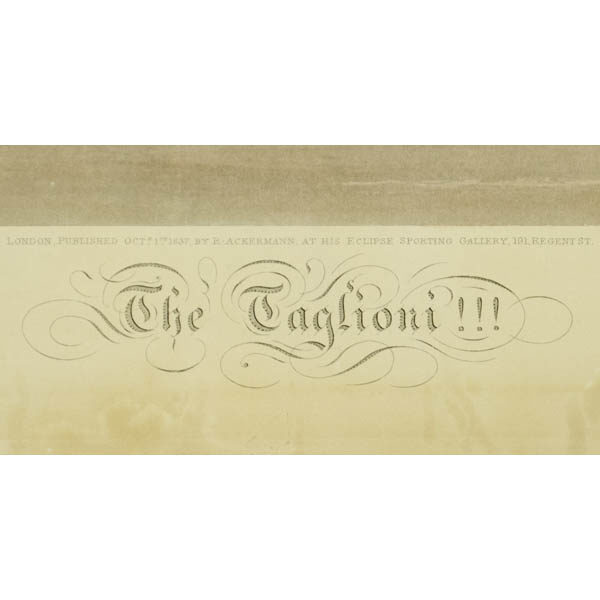 Engraved title, lower margin
