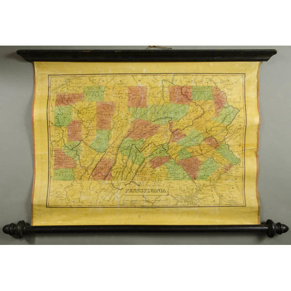 Finley Pennsylvania map on rollers