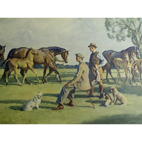Detail of Waldorf Astor, seated, with trainer and dogs