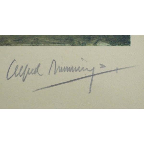 Alfred Munnings signature