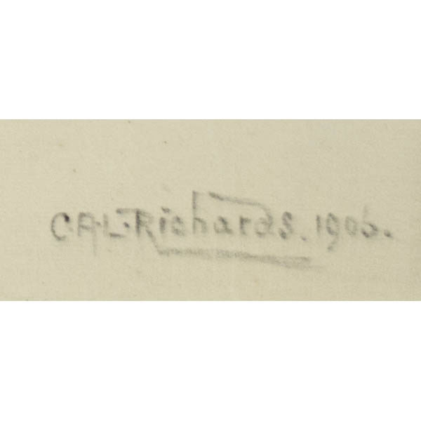 Detail of C.A.L. Richards signature.