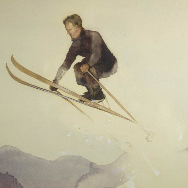 Detail of skier