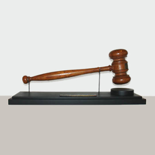 Custom gavel stand