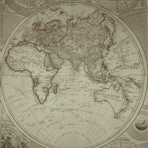 A General Map Of The World Or Terraqueous Globe, Eastern Hemisphere