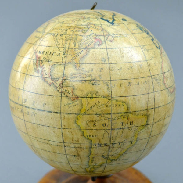 Detail of Americas, Holbrook 5-Inch Table Globe