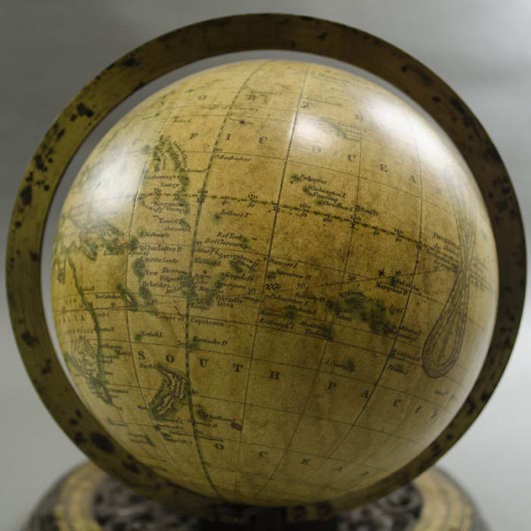 "Globe detail, Gilman Joslin 6-Inch Terrestrial ""Solar Telluric Globe"""